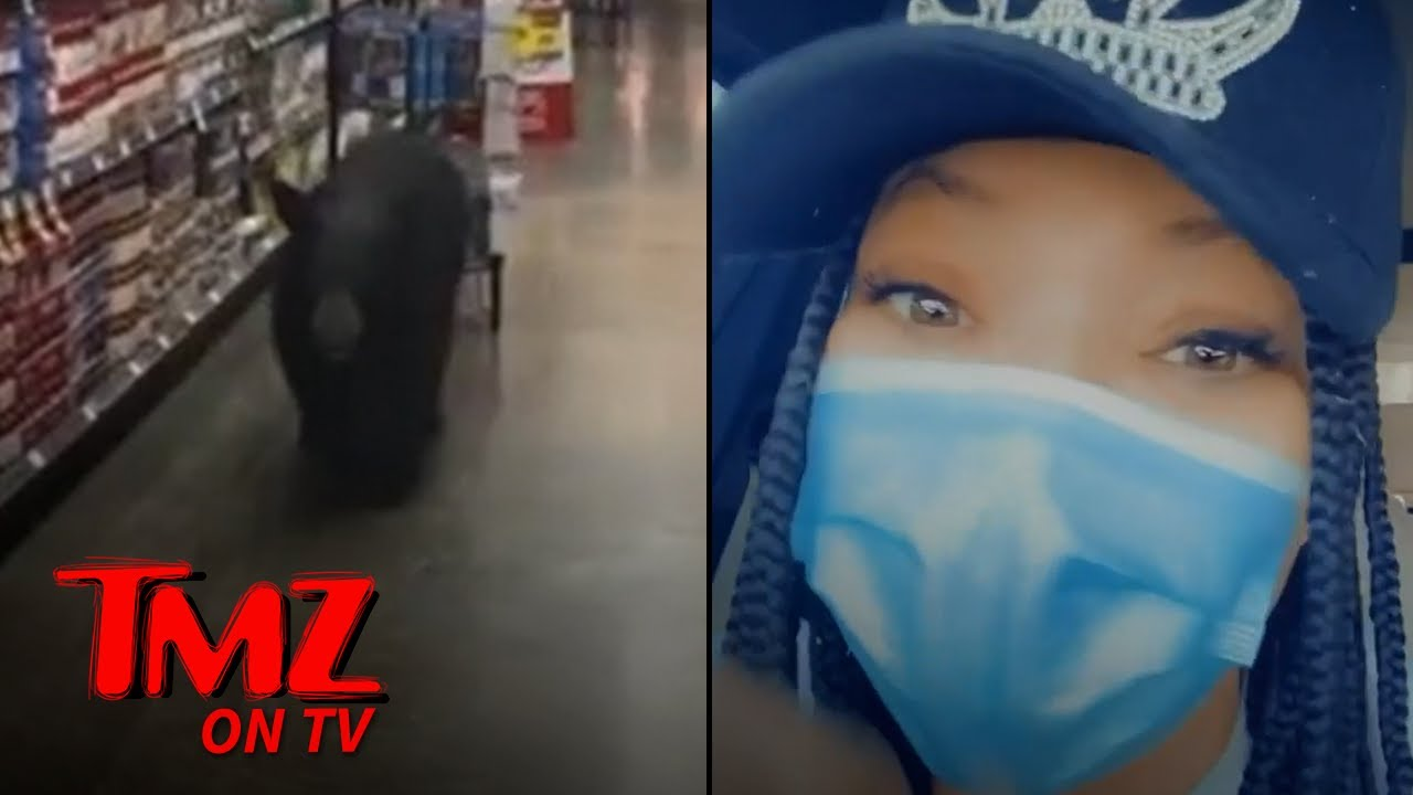 Tisha Campbell Encounters a Bear at the Grocery Store | TMZ TV